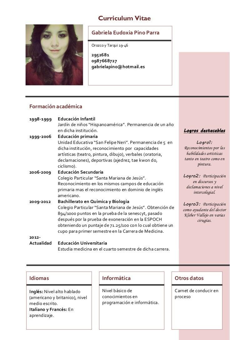 Curriculum vitae-modelo4a-granate