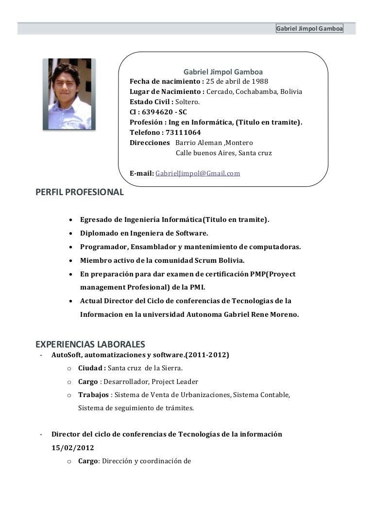 Curriculum vitae de ingeniero industrial en ingles