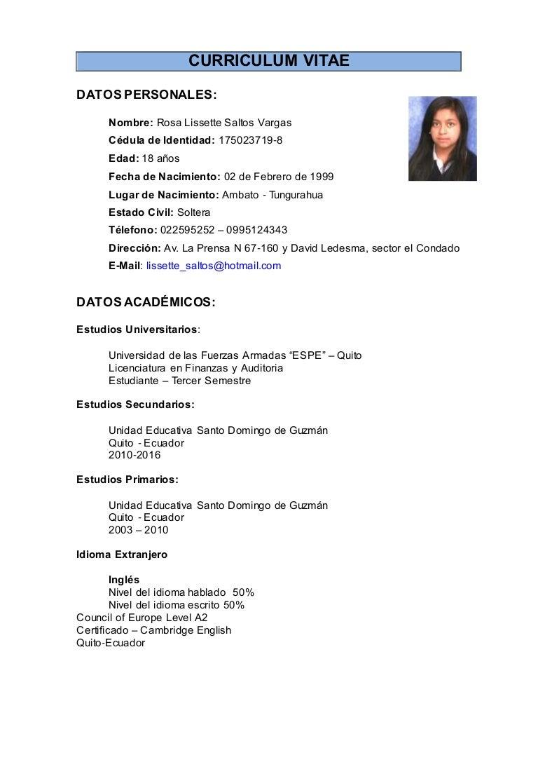 Curriculum vitae-sencillo_ Saltos_ Lissette