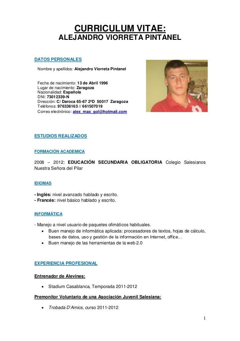 Curriculum alejandro viorreta