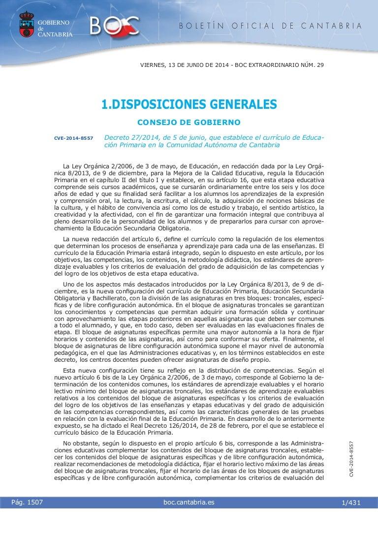 Curriculum cantabria