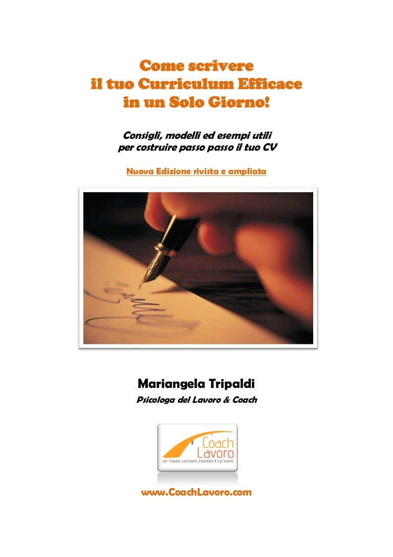 Curriculum Efficace 2012