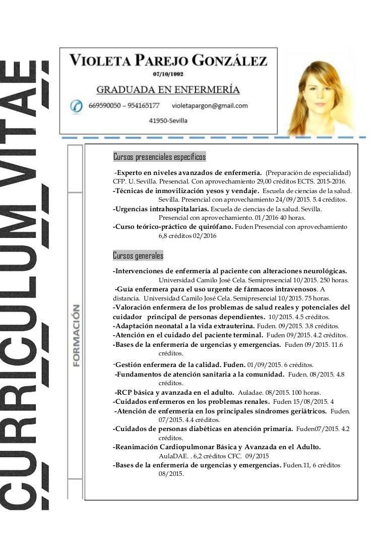 Vistoso Currículum De Enfermería Ornamento - Ejemplo De Colección De ...
