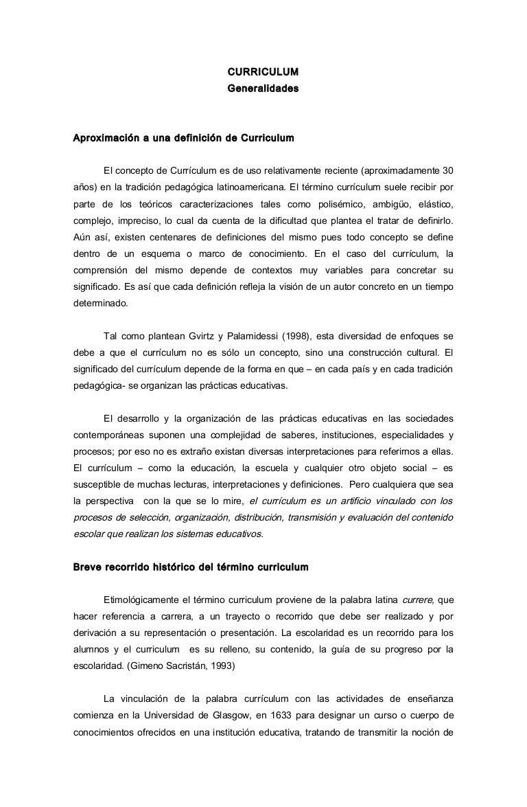 TAREA DE CURRICULUM