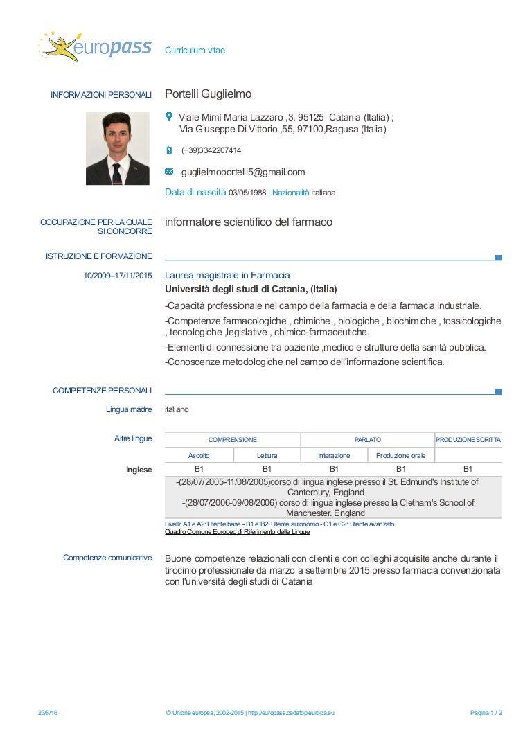 Curriculum Guglielmo Portelli