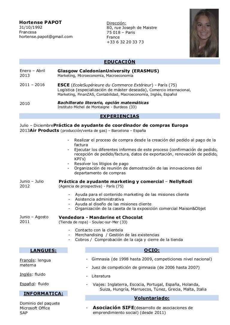 Curriculum hp español