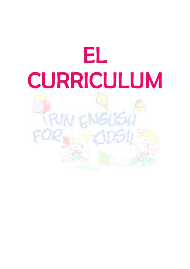 Curriculum ingles