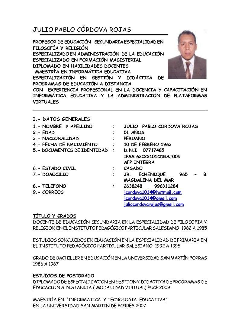 Curriculum juliocordova2014