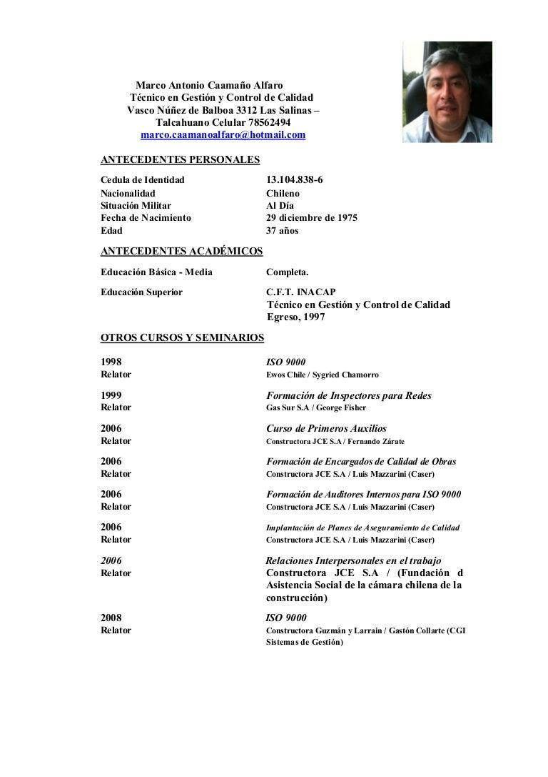 Curriculum marco 2013
