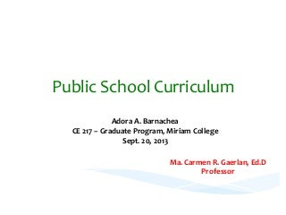 Curriculum models (Philippines' Curriculum Models)