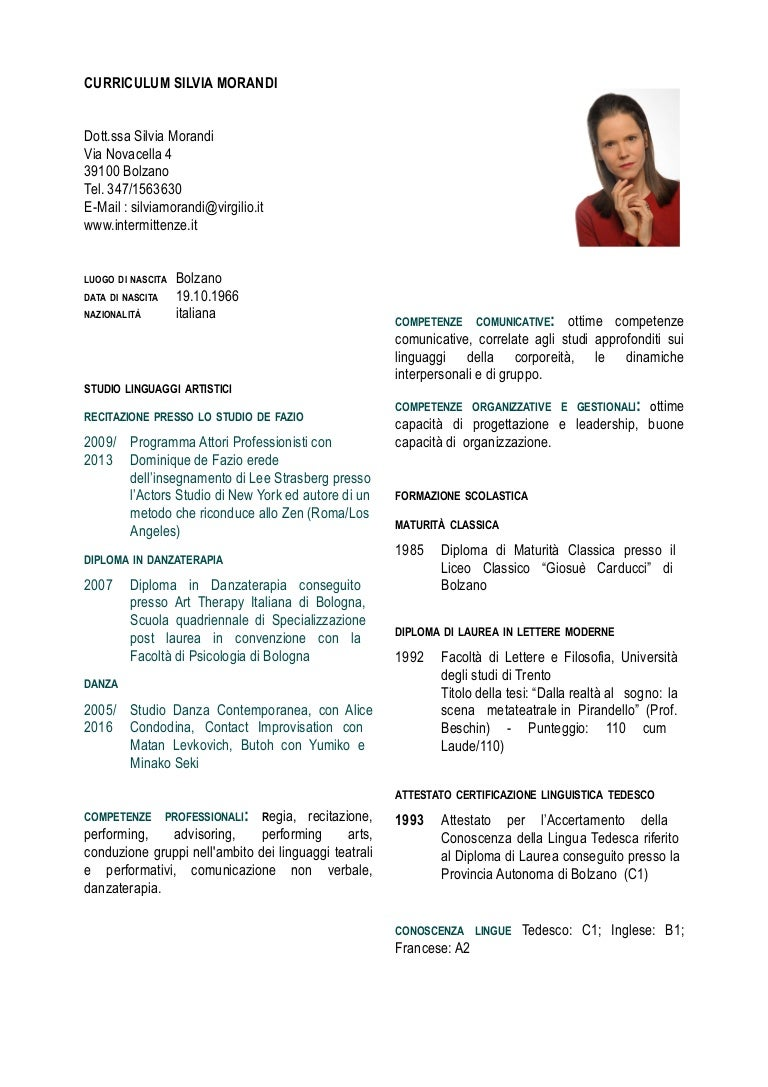 Curriculum Silvia Morandi 2016 Pdf