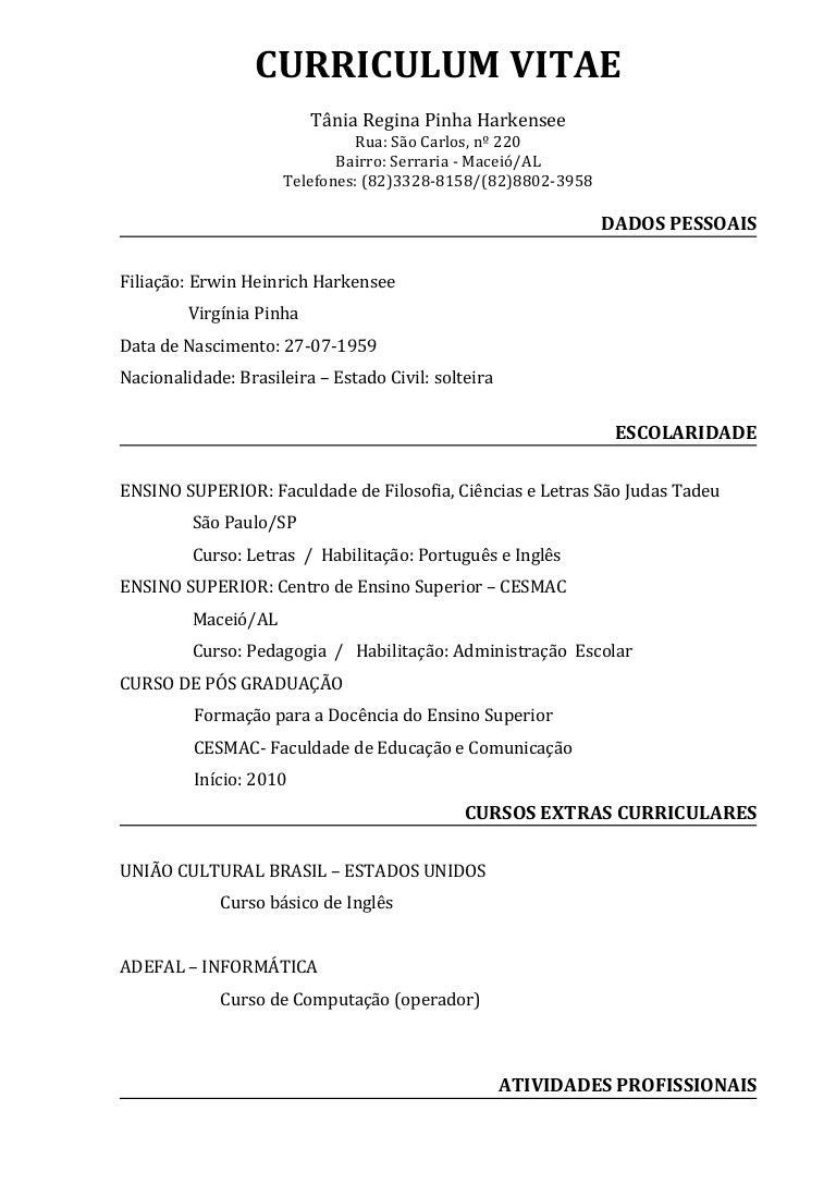 Perfecto Ejemplo De Currículo De Educación Superior Foto - Ejemplo ...