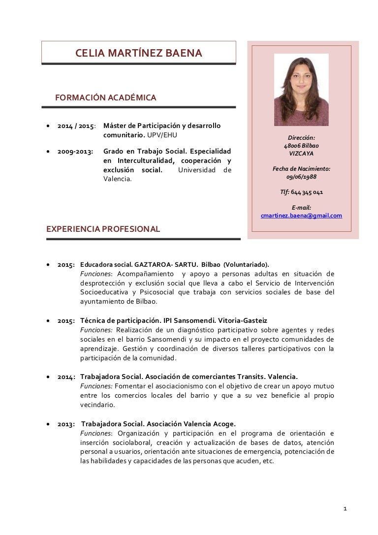 CV Celia Martínez Baena