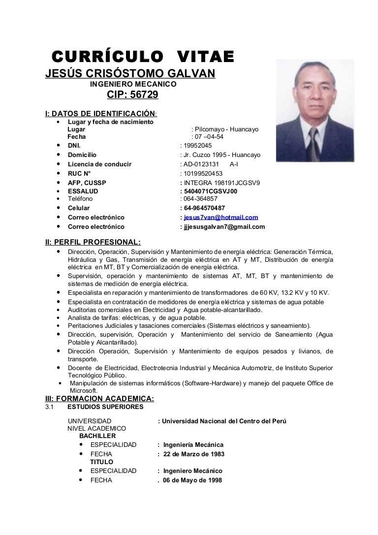 Increíble Plantilla De Curriculum Vitae Ingeniero Mecánico ...