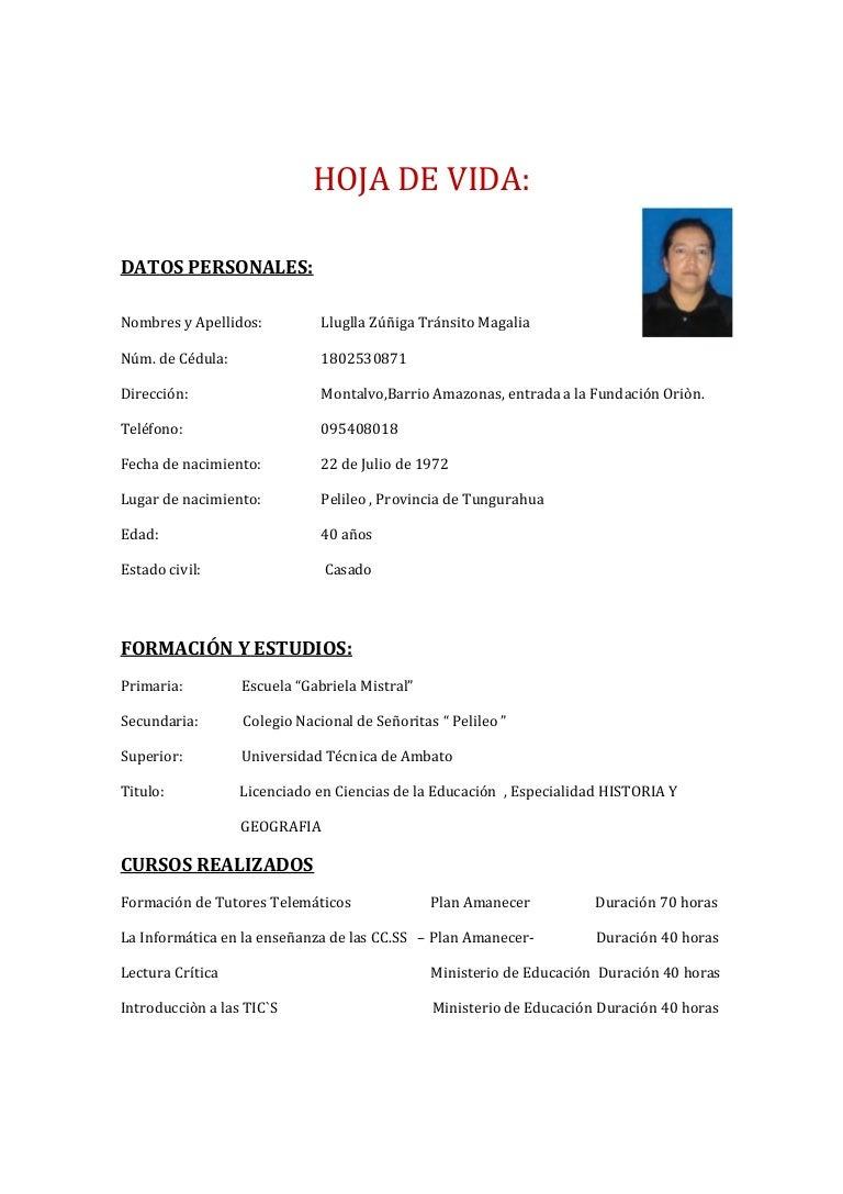 Curriculum vitae magalia2272