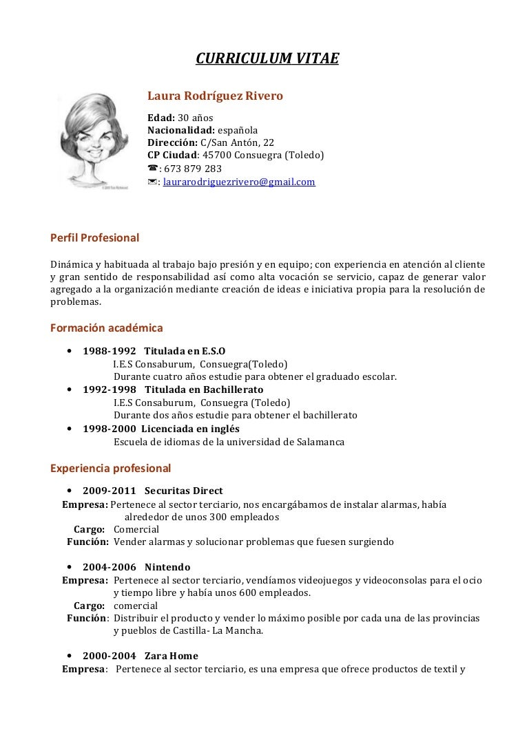 curriculumvitae-121004061105-phpapp01-thumbnail-4 Cv Curriculum Vitae Write on formato de un, resume or, template word document, sample personal, standard format, formato de, en francais,