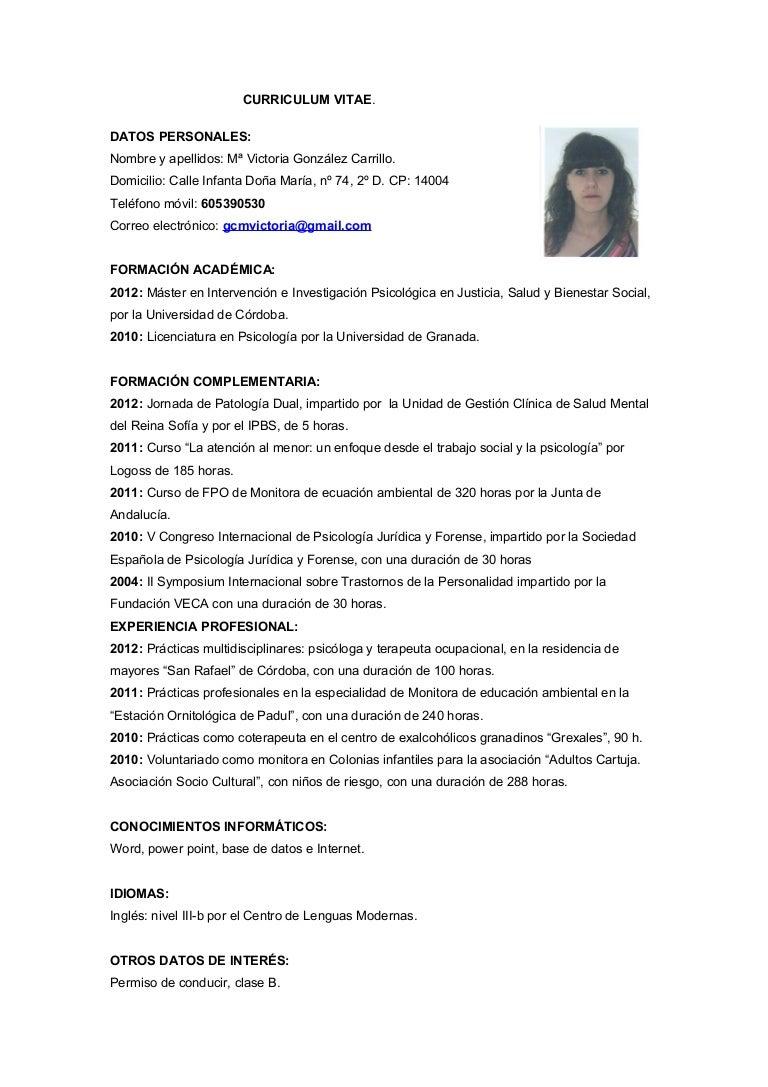 Curriculum Vitae Guatemala