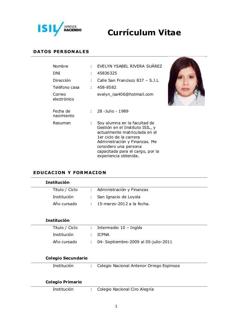 Curriculum vitae Evelynx18