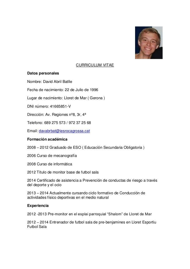 Asombroso Curriculum Vitae Graduado Matriculado Ideas - Colección De ...