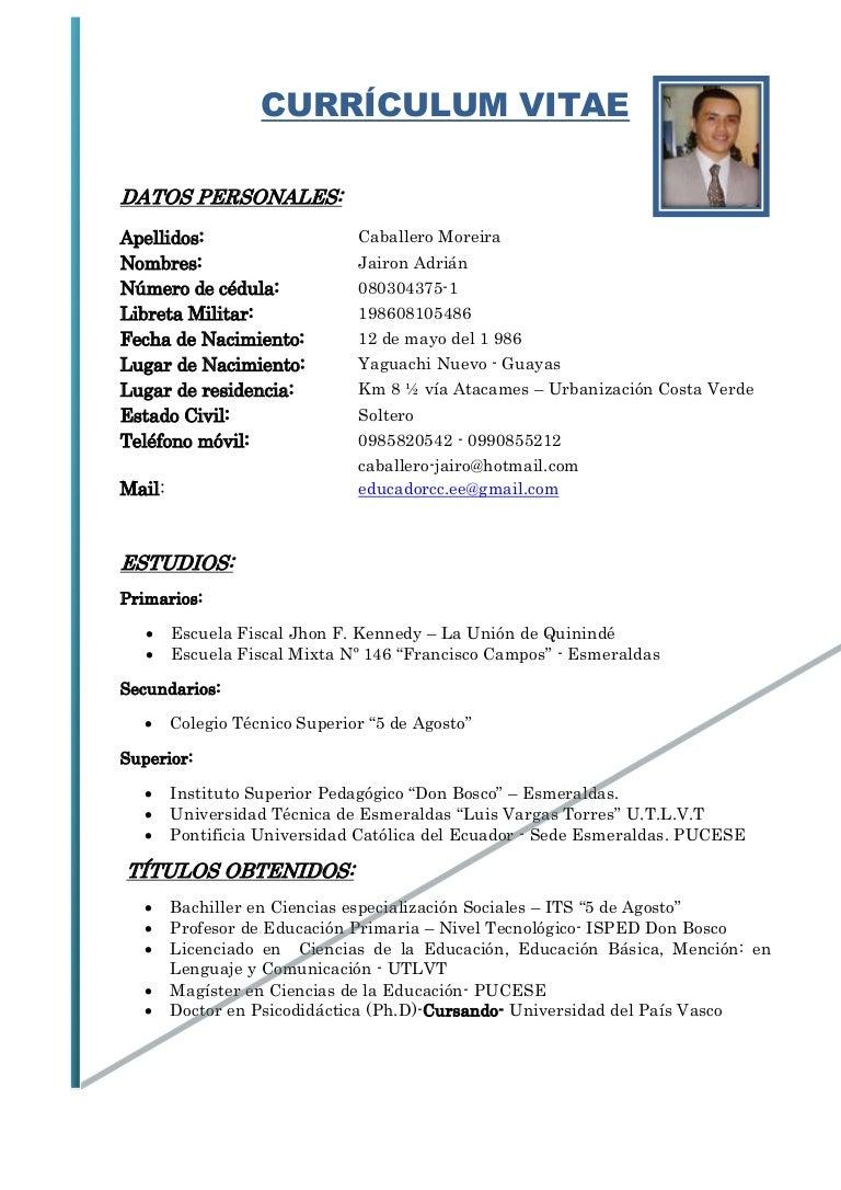 Curriculum vitae UESDC
