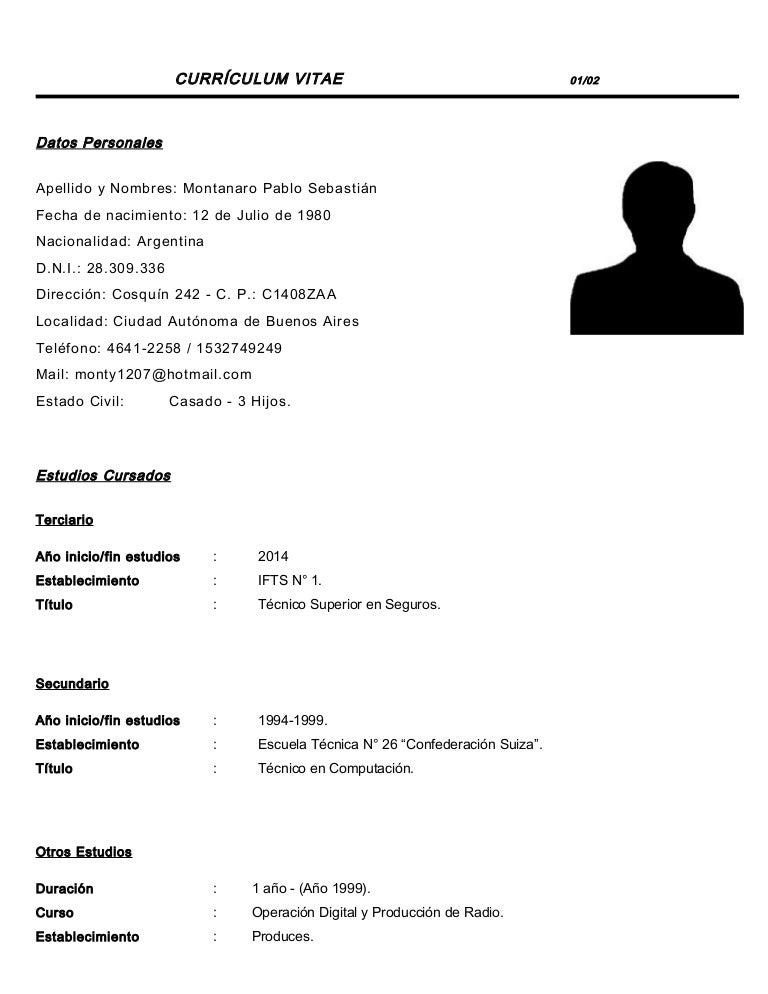 Curriculum Vitae Pablo Montanaro