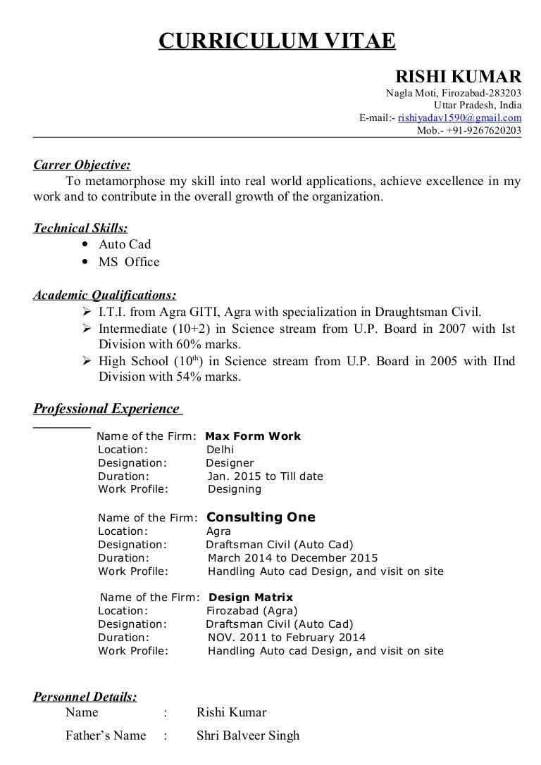 Curriculum vitae Rishi Yadav