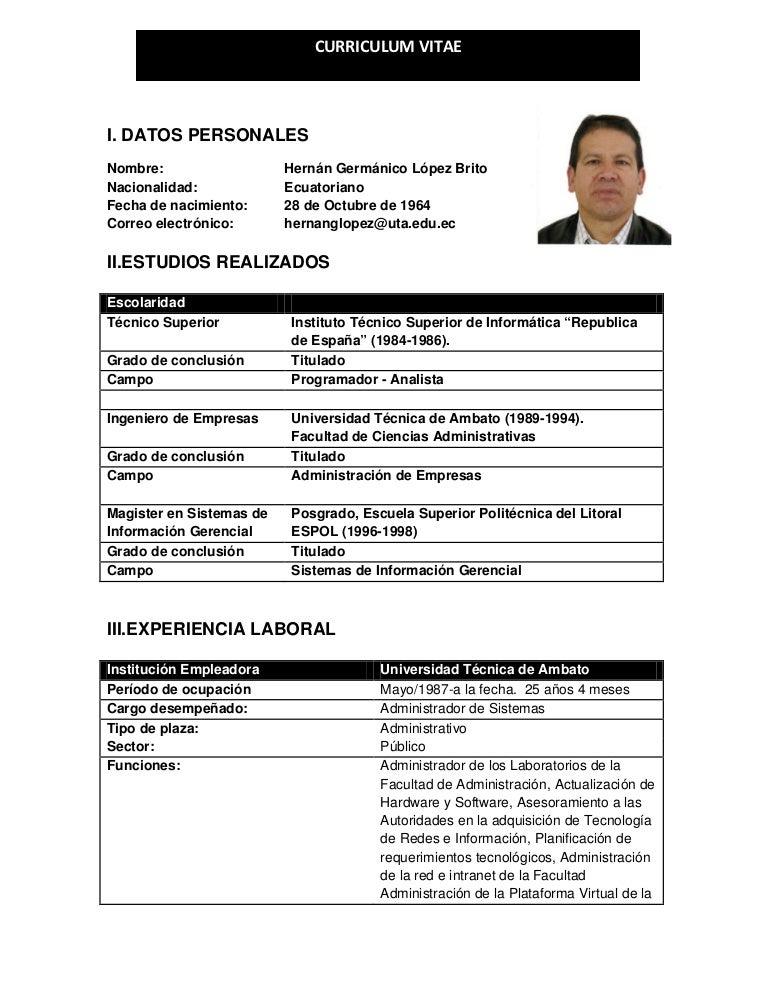 Único Ejemplo De Título De Currículum Para Ingeniero De Software ...