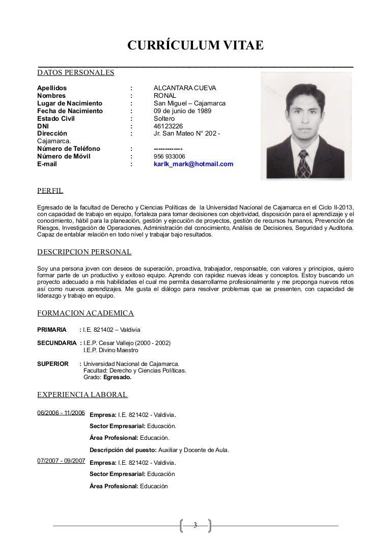 Increíble Currículums Profesionales Para Educadores Ideas - Ejemplo ...