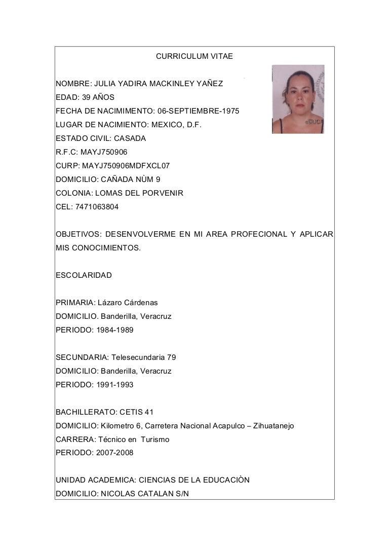 Excelente Muestra De Curriculum Vitae De Recepcionista Veterinaria ...