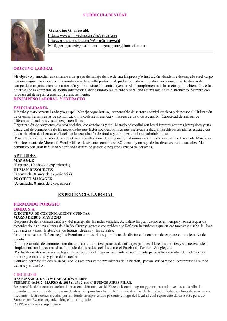 Dorable Buenos Ejemplos De Currículum Para Gerentes Colección de ...