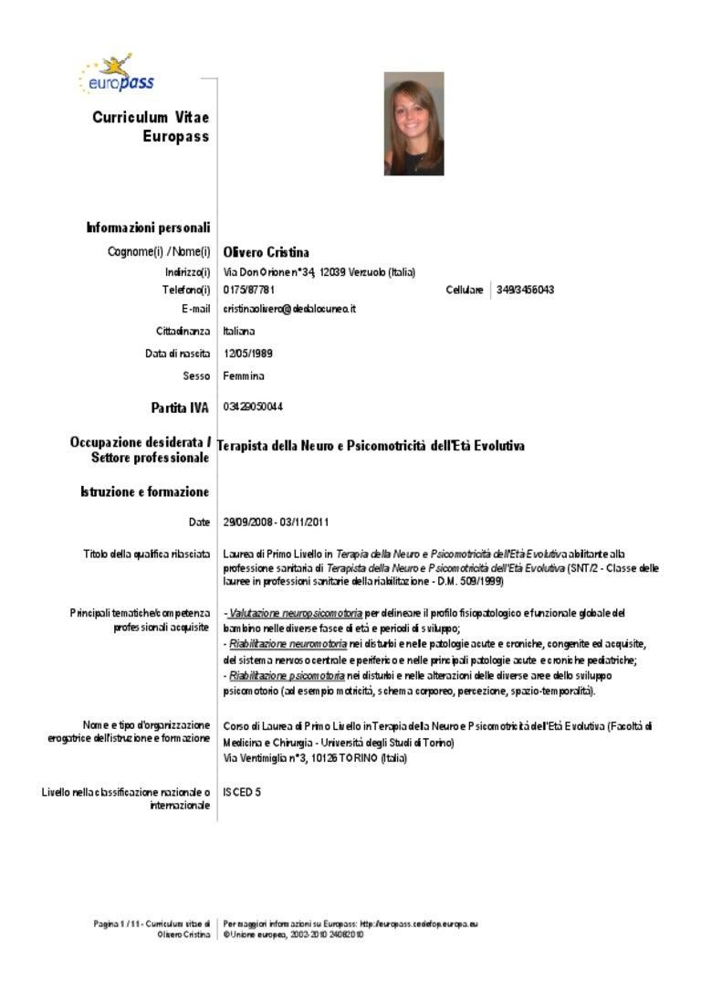 Curriculum Vitae Aggiornato Al 28 05 13