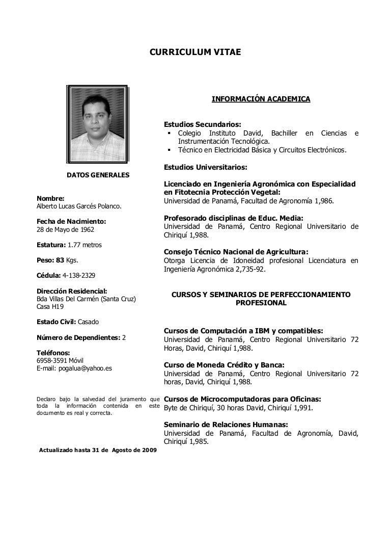 Excepcional Muestra Curriculum Vitae Profesor Universitario Imagen ...
