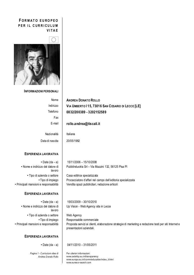 Curriculum Vitae Andrea Rollo