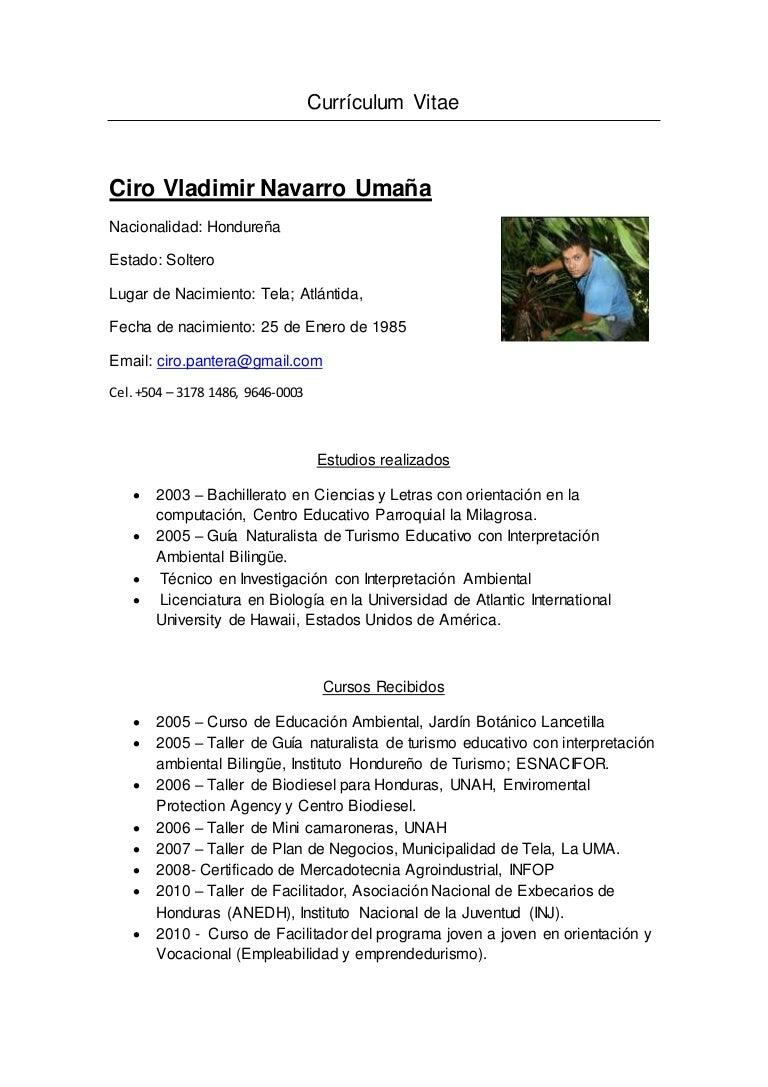 Curriculum vitae ciro. español