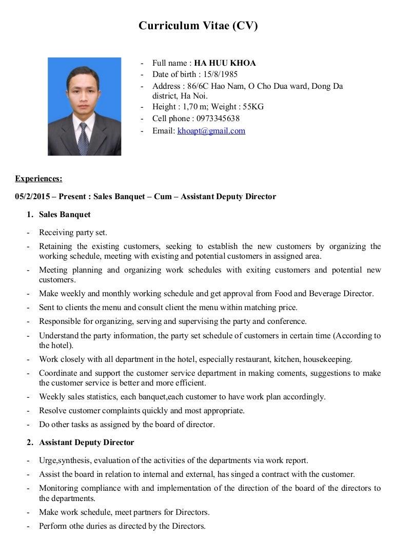 Curriculum Vitae Cv 25 4 2015