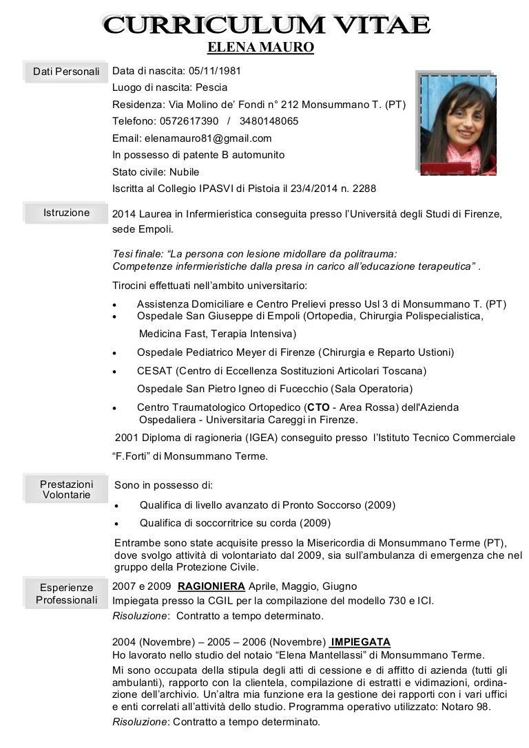 Curriculum Vitae Elena Mauro