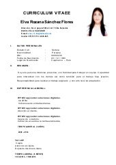 Modelo De Curriculum Vitae Simple Pablo Penantly Co