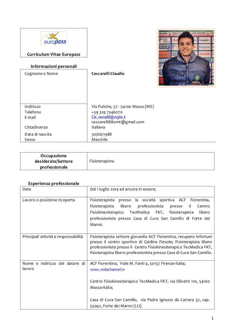 Curriculum Vitae Europass Clacecca88