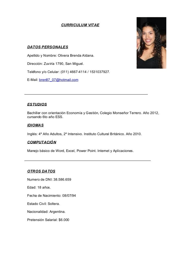 Curriculum vitae final for Curriculum de nivel inicial