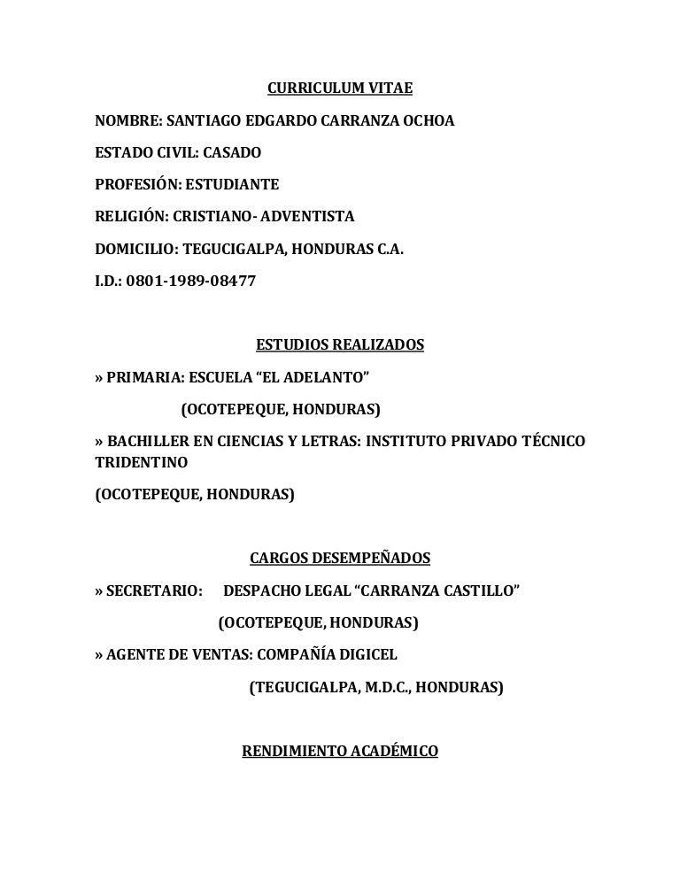 Curriculum Vitae Info