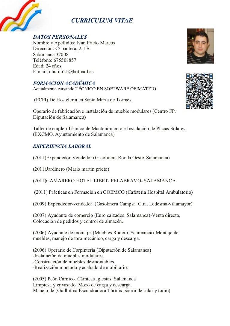 Fantástico Ejemplos De Currículums Para Jardinero Molde - Colección ...