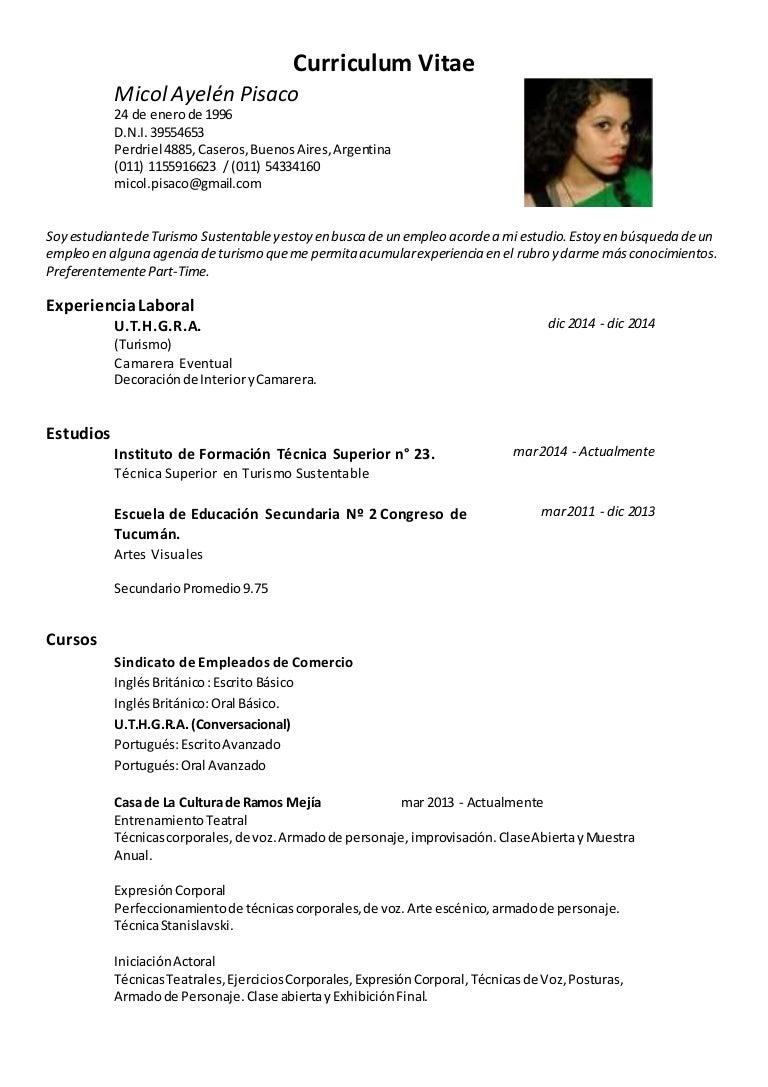 Curriculum vitae micol pisaco
