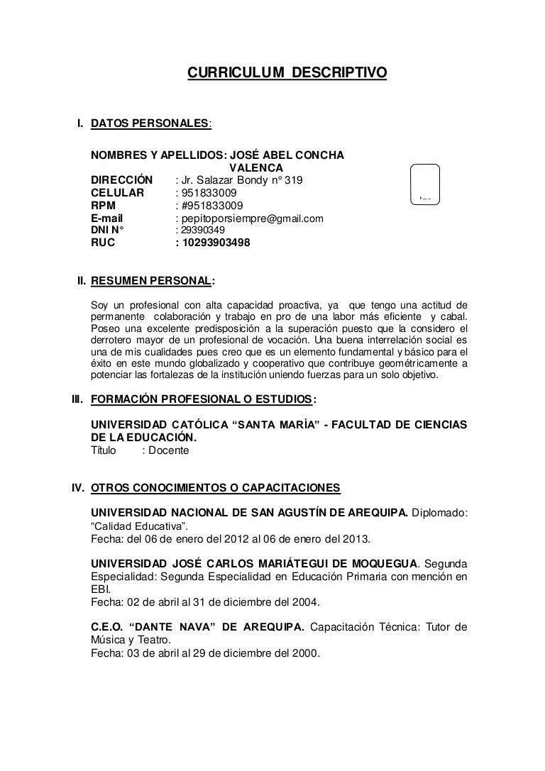 Increíble Ejemplo De Currículum De Aplicación Para Profesores Adorno ...