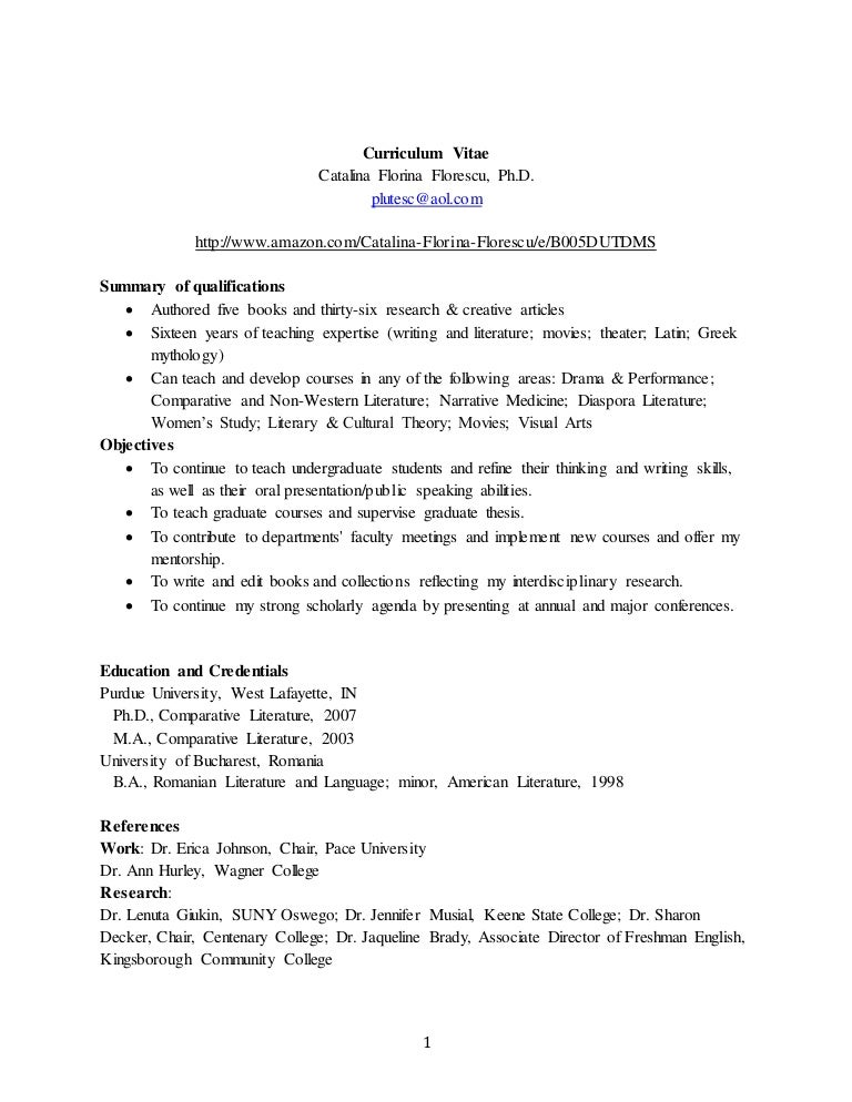 Appendix I: Writing the Paper - Writing About esl curriculum vitae ...