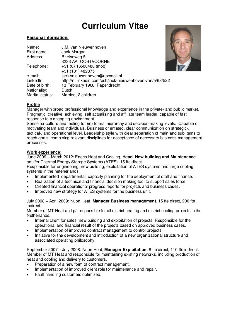 curriculum vitae profiel en managementstijl v2 eng 120717