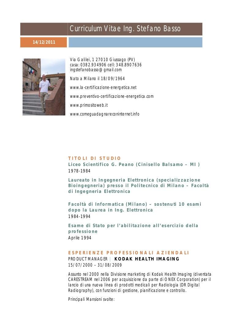 Curriculum Vitae Stefano Basso