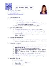 Curriculum Vitae Victoria Villa