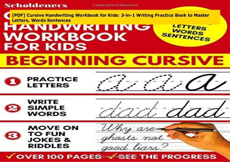 Doc Cursive Handwriting Workbook For Kids 3 In 1 Writing Practice