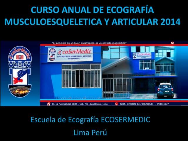 Curso anual de ecografia musculoesqueletica y articular 2014