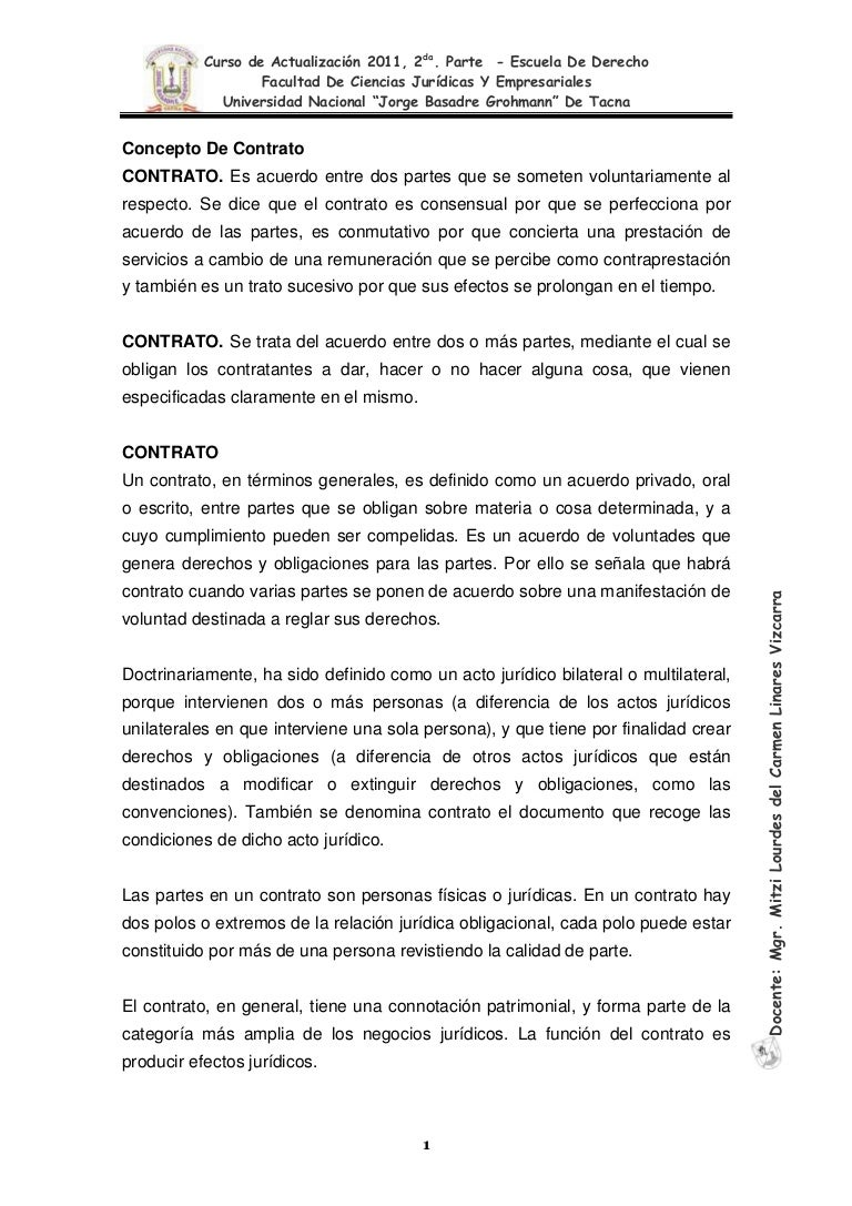 Ii curso de actualizacion 2011 contratos for Arrendamiento de bienes muebles ejemplos